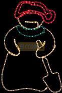 "Фигура ""Снеговик с лопатой"", размер 94*63 см NEON-NIGHT"