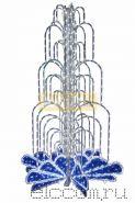 LED фонтан, высота 4.0, диаметр 2.5 метра (с контроллером) Синий NEON-NIGHT