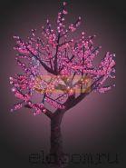 """Светодиодное дерево """"Азалия"""", высота 2.3 метра, розовые светодиоды, IP 54, понижающий трансформатор в комплекте, NEON-NIGHT"""