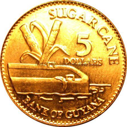 Гайана 5 долларов 2012 г.