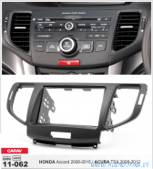 Carav 11-062 (2-DIN HONDA Accord 8 (Europe) 2007+)