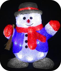 "Фигура ""Снеговик с веником"", 30см"