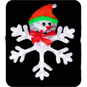 """фигура """"Снежинка со Снеговиком """", диаметр 46,5 см"""