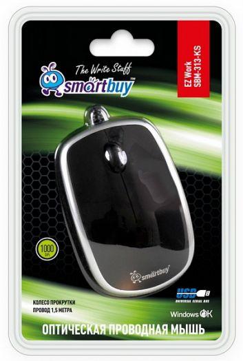 Мышь проводная Smartbuy 313 черная/серебро