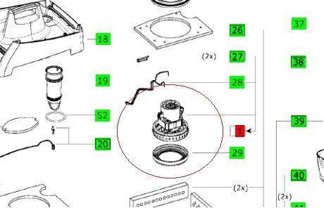 Турбина (мотор) для пылесоса Festool MINI и MIDI