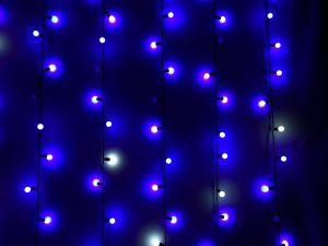 """Занавес """"Шарики 17мм"""" мерцающие, синие, 1х3м"""