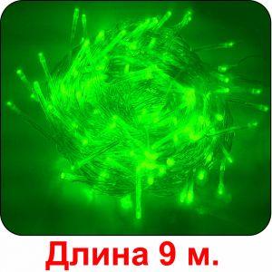 """""""Огонёк"""" зелёная, 100 светодиодов, 9м"""