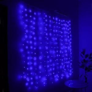 """Занавес """"Светлячок"""" синий, 256 минисветодиодов, 1.6х1.6м"""
