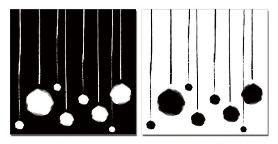 """Модульная картина """"Шары малые"""" черная 50х50"""