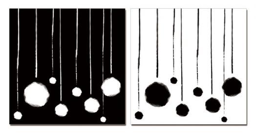 """Модульная картина """"Шары малые"""" черная"""