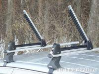 Багажник для лыж и сноубордов - крепление Amos для 3 пар лыж / 2 сноубордов (серебристый цвет)