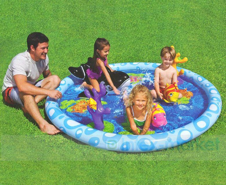 Игровой центр с бассейном надувной Intex 57448