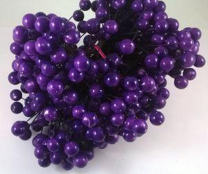 Ягоды 10 мм (длина 16см), цвет - фиолетовый, 1 уп = 400 ягодок