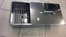Коптильня двухъярусная 480х280х170 (нержавеющая сталь 0.8 мм) арт.10-01-0020