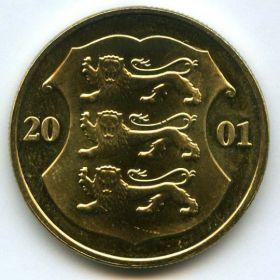 1 крона Эстония 2001