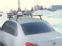 Багажник на крышу Datsun On-Do, Евродеталь, стальные дуги