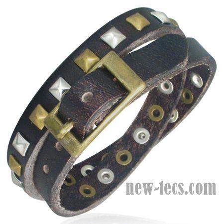 Кожаный браслет-ремень