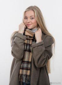 шарф 100% шерсть ягнёнка , королевский клан Стюартов, вариант Кэмэл Stewart Camel, плотность 6