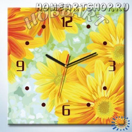 Часы картина по номерам Солнечный круг