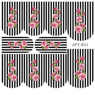 Слайдер-дизайн для ногтей № 0211