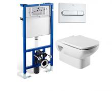 Система инсталляции Roca PRO WC 89009020 в комплекте с подвесным унитазом Roca Dama Senso 346517000