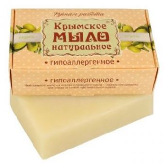 Крымское мыло натуральное Гипоаллергенное. 100 гр