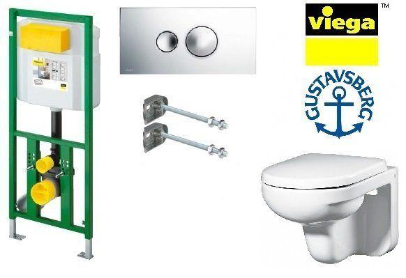 Система инсталляции Viega Eco Plus 660321 в комплекте с подвесным унитазом Gustavsberg Artic 4330 с сиденьем Soft-Close