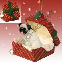 Мопс новогоднее украшение-подарок «Красное  Рождество»