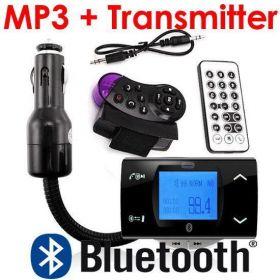 FM-модулятор + Bluetooth HandsFree и mp3 плеер