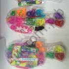Набор для плетения Rainbow Loom Bands Рыбка 1000шт резинок , крючок, клипсы ,станочек для плетения  {2/15}