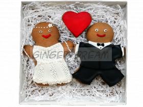 """Свадебные пряники в наборах """"Жених и невеста"""" Сладкие подарки на свадьбу"""