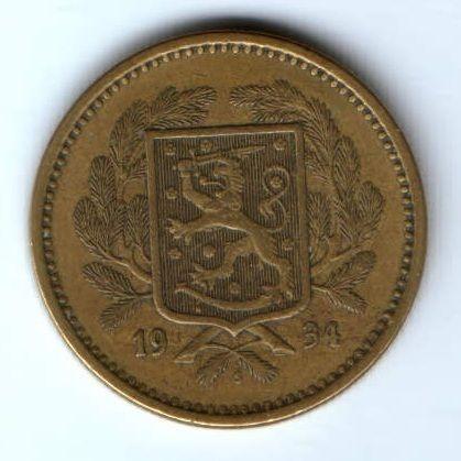 20 марок 1934 г. Финляндия