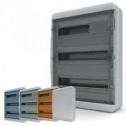 Щит навесной 54 мод. IP65, прозрачная черная дверца