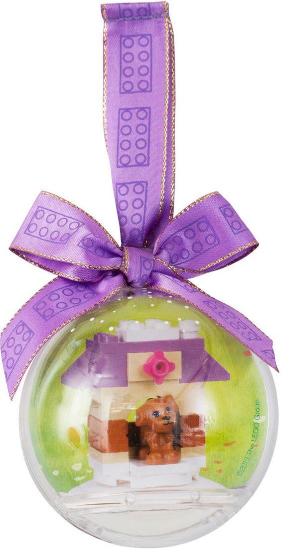 Ёлочная игрушка Щенок в шаре. Конструктор ЛЕГО 850849