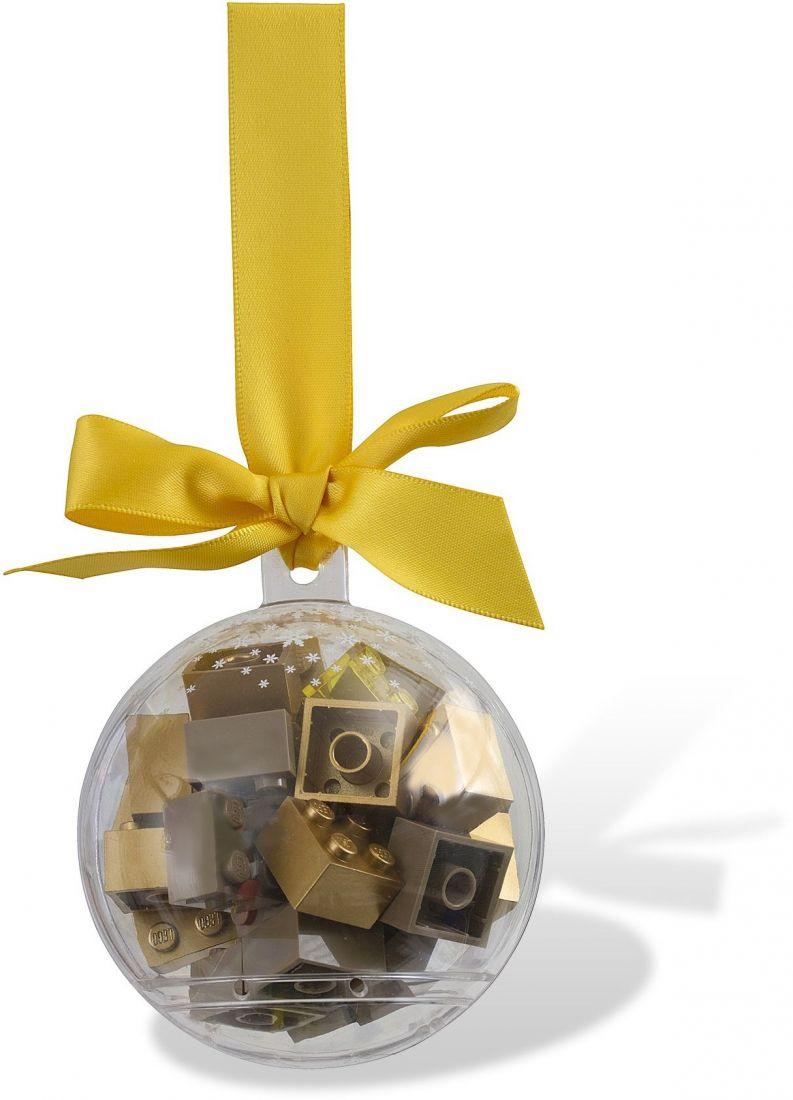 Ёлочная игрушка Шар с золотыми кубиками. Конструктор ЛЕГО 853345