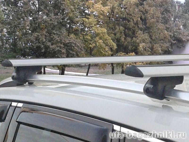 Багажник на крышу Volkswagen Tiguan, Атлант, крыловидные дуги на рейлинги