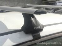 Багажник на крышу Mitsubishi L200, Атлант, крыловидные дуги, опора Е