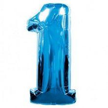 """Фигура """"1""""  (40""""/102 см) синий"""