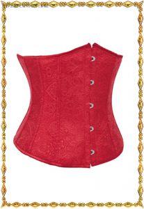 Красный корсет под грудь из жаккардовой ткани