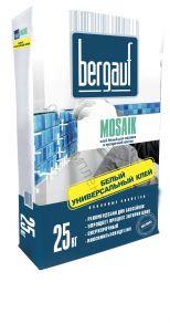 Клей белый для мозаики и прозрачной плитки Mosaik 25кг Bergauf 1уп=56шт