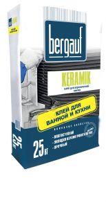 Клей для керамической и кафельной плитки Keramik 25кг Bergauf 1уп=56шт