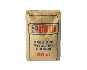 Клей для ячеистых блоков 30кг Bergauf Praktik 1уп=48шт