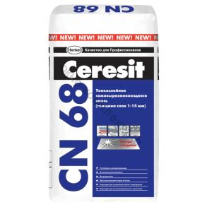 Смесь самовыравнивающаяся Церезит CN 68 ,от 1-15мм, 25 кг 1уп.=48шт
