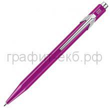 Ручка шариковая Caran d'Ache Office Popline Metal-X фиолетовый М 849.850