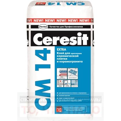 CERESIT CМ 14 Extra. Клей для керамической плитки и керамогранита 25кг