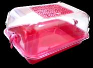 ZOOEXPRESS Клетка-террариум прозрачный средний