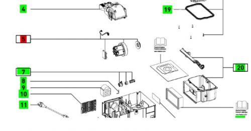Турбина / Двигатель для пылесоса CTL SYS