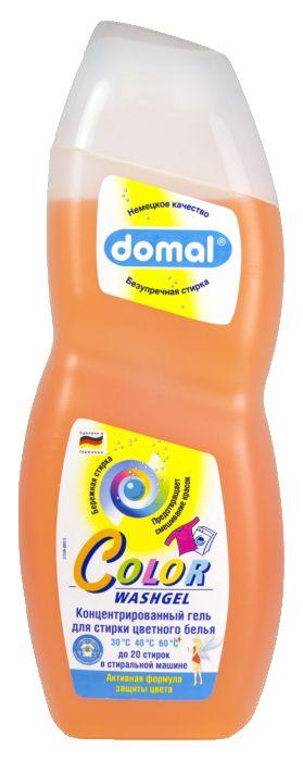 Domal Универсальное концентрированное моющее средство для стирки цветного белья с формулой сохранения цвета 750 мл