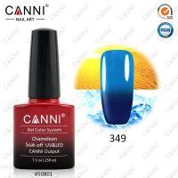Термогель-лак Canni #349 (темный синий - голубой) 7.3 ml