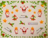 """Водная наклейка для дизайна ногтей """"Новый Год"""" BLE 2333"""